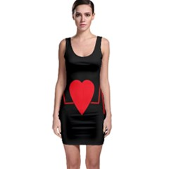 Hart bit Sleeveless Bodycon Dress