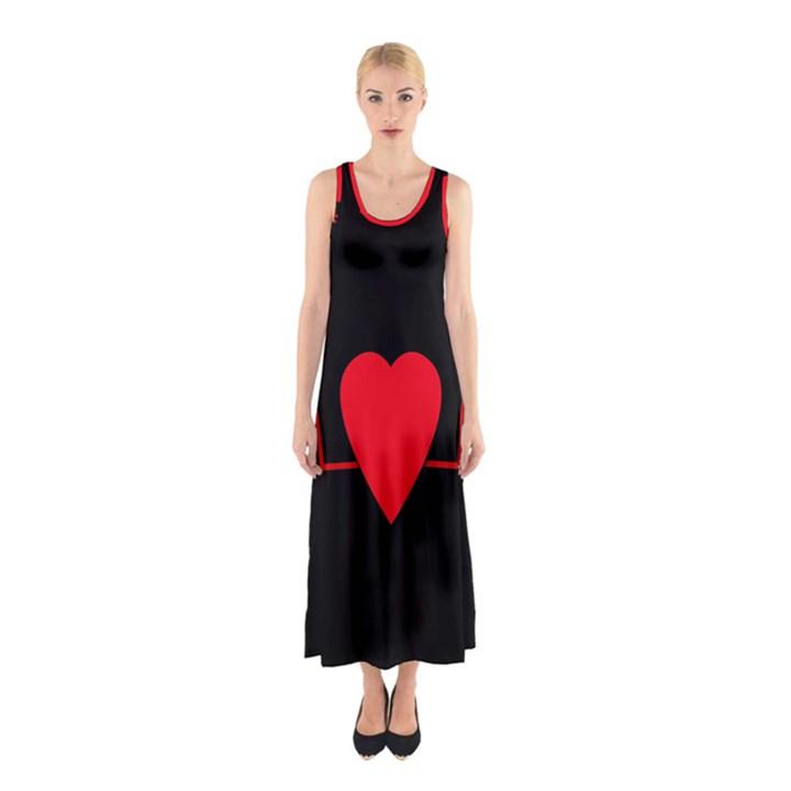 Hart bit Sleeveless Maxi Dress