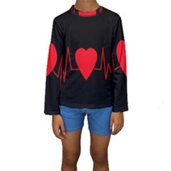 Hart bit Kids  Long Sleeve Swimwear