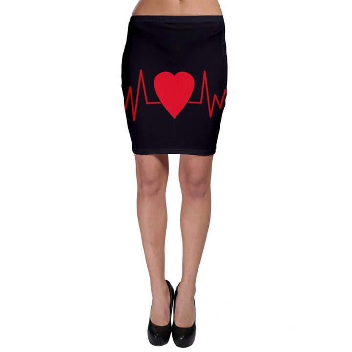Hart bit Bodycon Skirt
