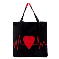Hart bit Grocery Tote Bag