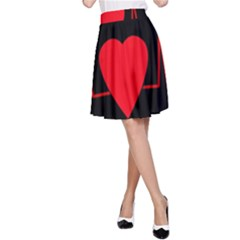 Hart bit A-Line Skirt