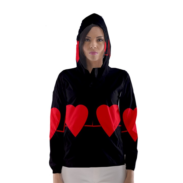 Hart bit Hooded Wind Breaker (Women)