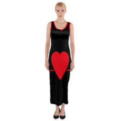 Hart Bit Fitted Maxi Dress