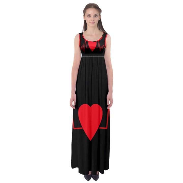 Hart bit Empire Waist Maxi Dress