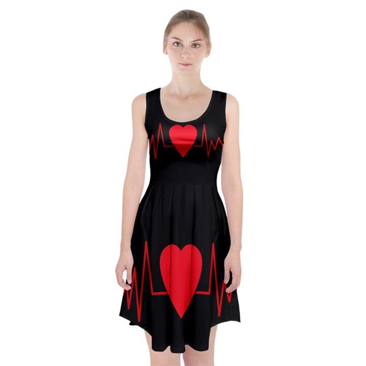 Hart bit Racerback Midi Dress
