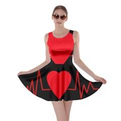 Hart bit Skater Dress