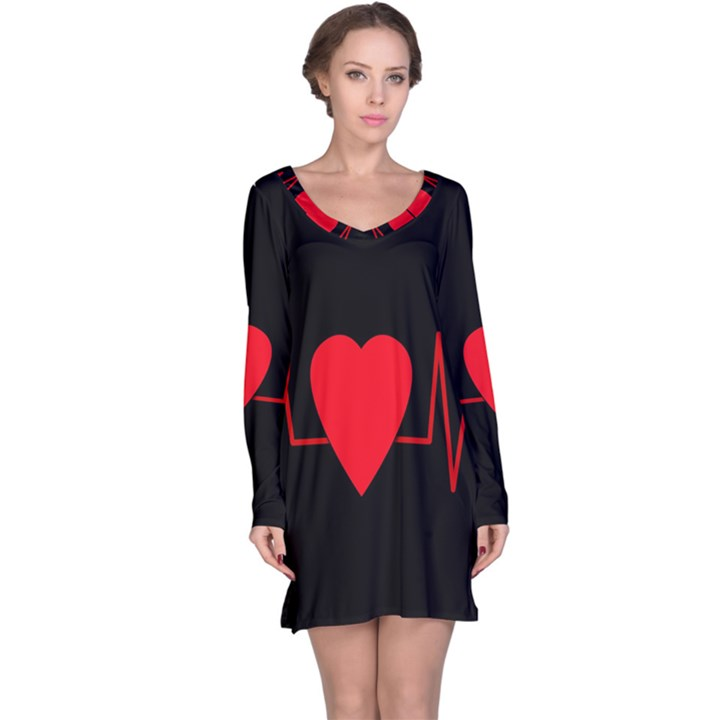 Hart bit Long Sleeve Nightdress