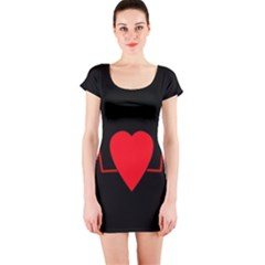 Hart Bit Short Sleeve Bodycon Dress