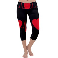 Hart bit Capri Yoga Leggings