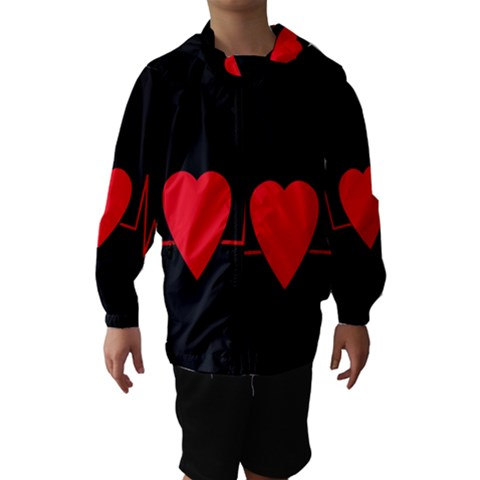 Hart bit Hooded Wind Breaker (Kids)