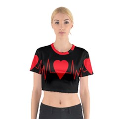 Hart Bit Cotton Crop Top
