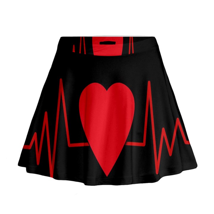 Hart bit Mini Flare Skirt