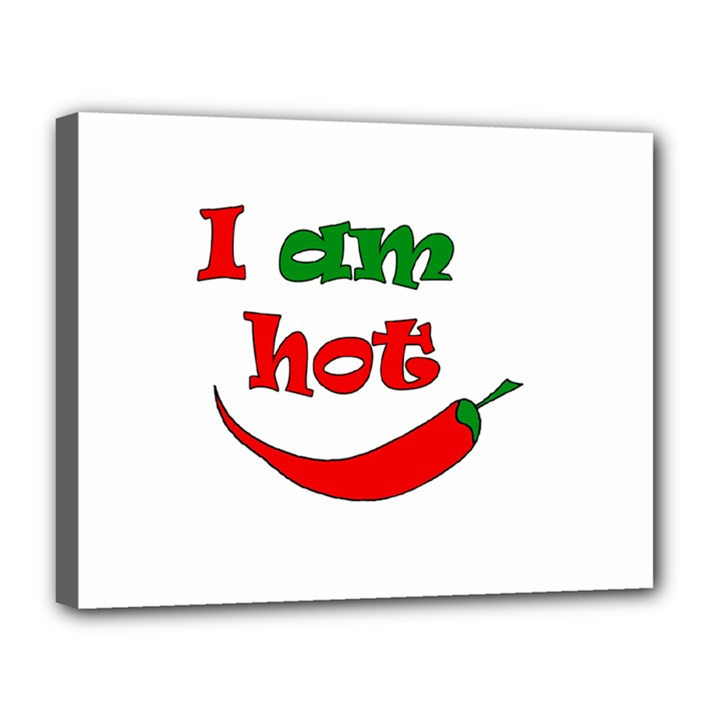 I am hot  Canvas 14  x 11