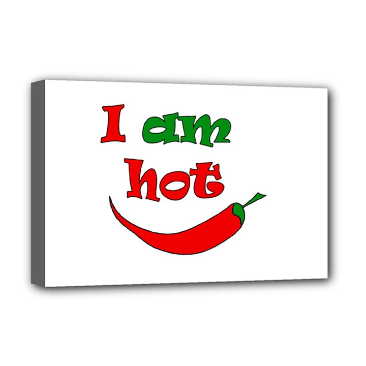 I am hot  Deluxe Canvas 18  x 12