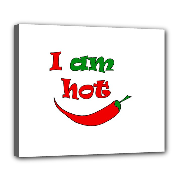I am hot  Deluxe Canvas 24  x 20
