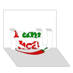 I am hot  I Love You 3D Greeting Card (7x5)