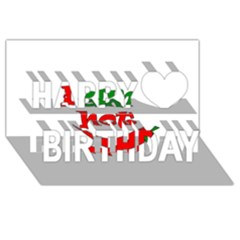 I Am Hot  Happy Birthday 3d Greeting Card (8x4)