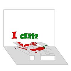 I am hot  LOVE Bottom 3D Greeting Card (7x5)