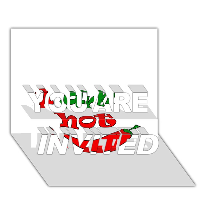 I am hot  YOU ARE INVITED 3D Greeting Card (7x5)