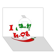 I Am Hot  Ribbon 3d Greeting Card (7x5)
