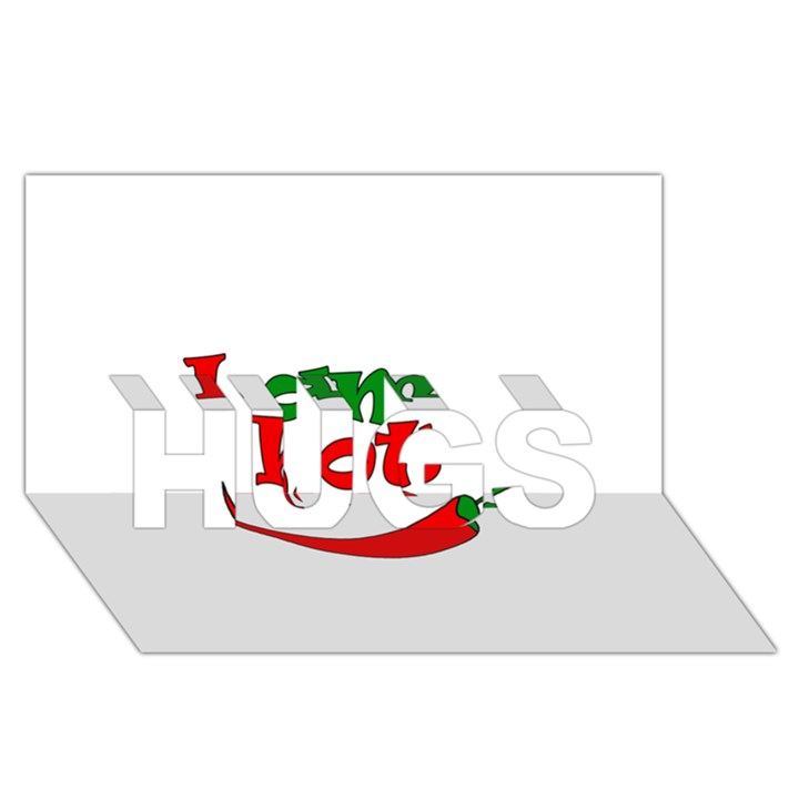 I am hot  HUGS 3D Greeting Card (8x4)