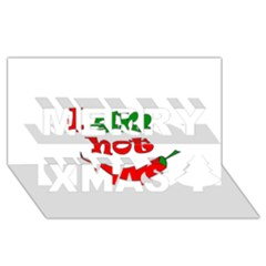 I am hot  Merry Xmas 3D Greeting Card (8x4)