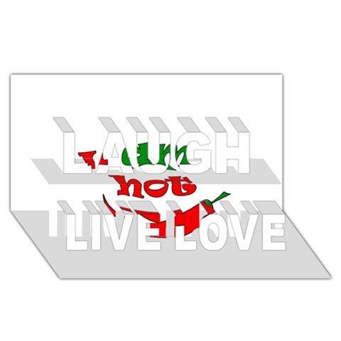 I am hot  Laugh Live Love 3D Greeting Card (8x4)