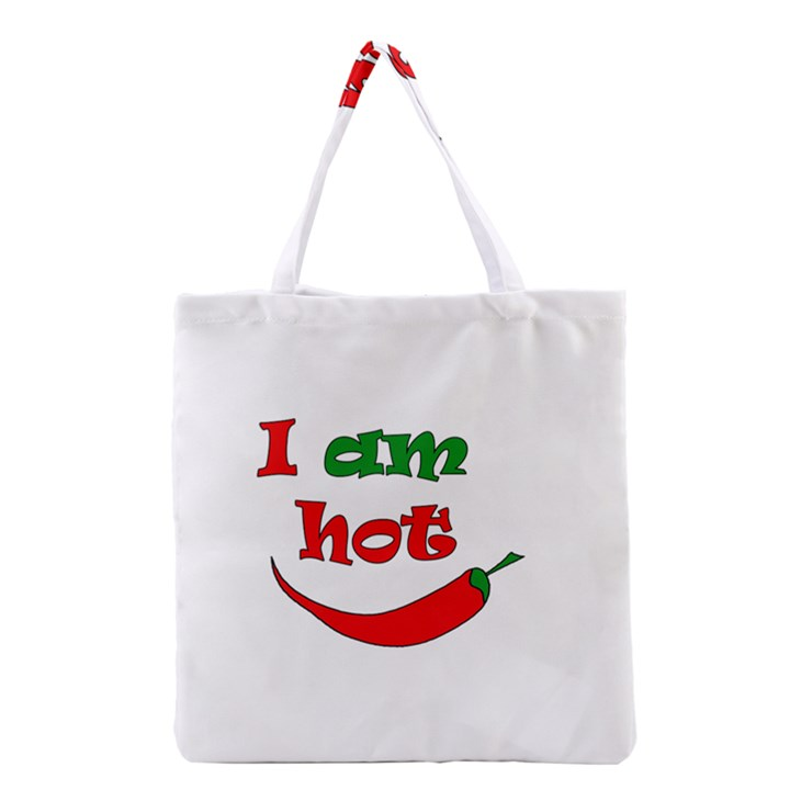 I am hot  Grocery Tote Bag