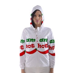 I am hot  Hooded Wind Breaker (Women)
