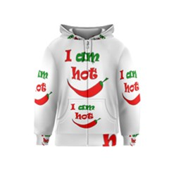 I am hot  Kids  Zipper Hoodie