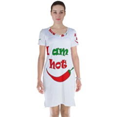 I Am Hot  Short Sleeve Nightdress