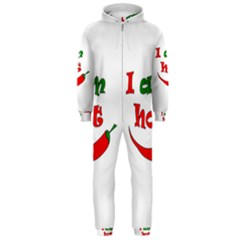 I Am Hot  Hooded Jumpsuit (men)