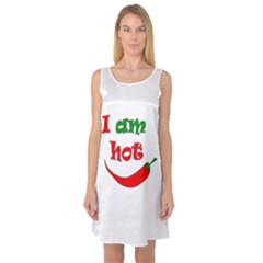 I am hot  Sleeveless Satin Nightdress