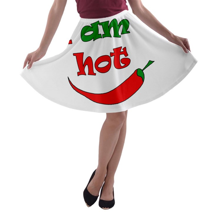 I am hot  A-line Skater Skirt