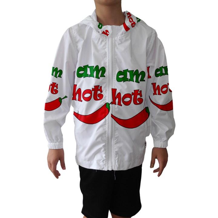 I am hot  Hooded Wind Breaker (Kids)