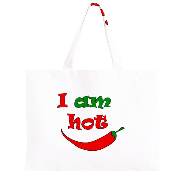 I am hot  Large Tote Bag