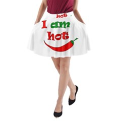 I Am Hot  A Line Pocket Skirt