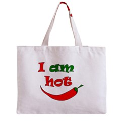 I Am Hot  Medium Zipper Tote Bag