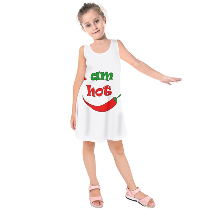 I am hot  Kids  Sleeveless Dress