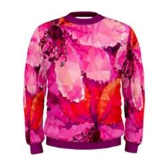 Geometric Magenta Garden Men s Sweatshirt
