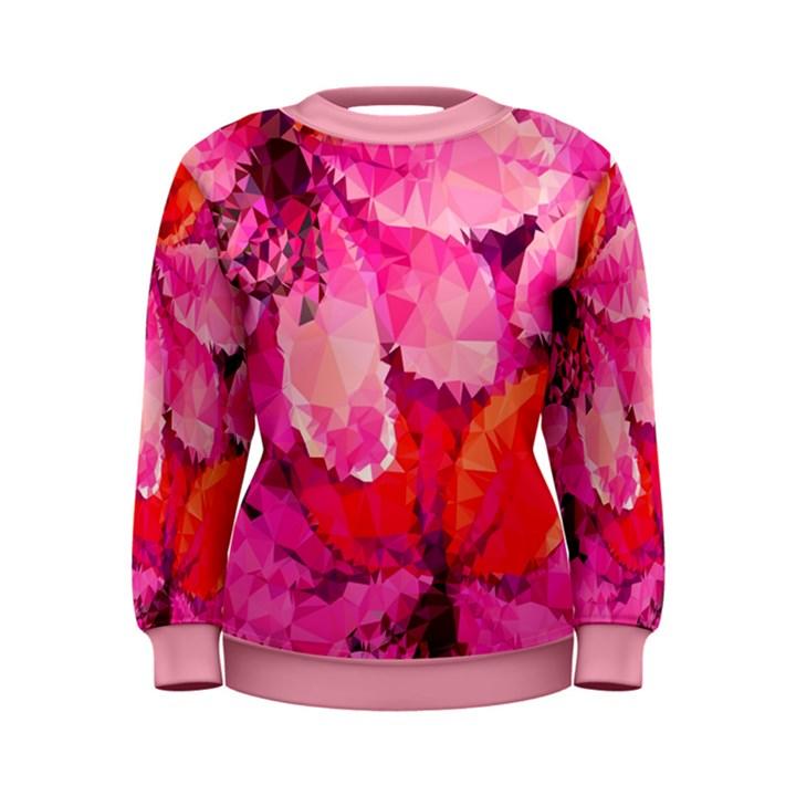 Geometric Magenta Garden Women s Sweatshirt