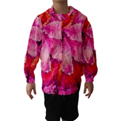 Geometric Magenta Garden Hooded Wind Breaker (kids)