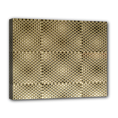 Fashion Style Glass Pattern Canvas 14  x 11