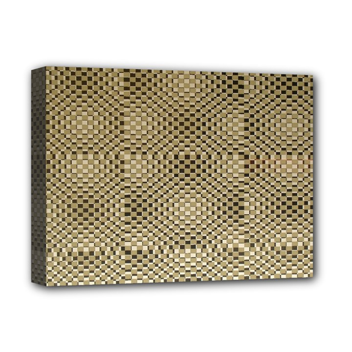 Fashion Style Glass Pattern Deluxe Canvas 16  x 12