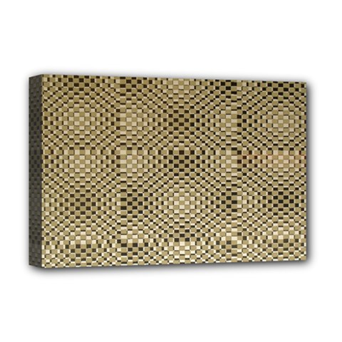 Fashion Style Glass Pattern Deluxe Canvas 18  x 12