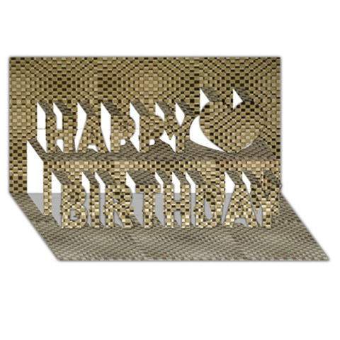 Fashion Style Glass Pattern Happy Birthday 3D Greeting Card (8x4)