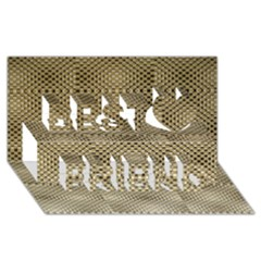 Fashion Style Glass Pattern Best Friends 3D Greeting Card (8x4)
