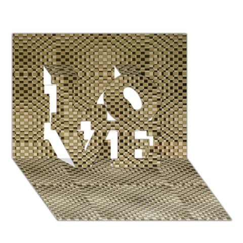 Fashion Style Glass Pattern LOVE 3D Greeting Card (7x5)