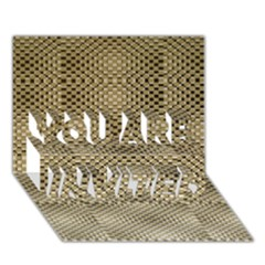 Fashion Style Glass Pattern YOU ARE INVITED 3D Greeting Card (7x5)